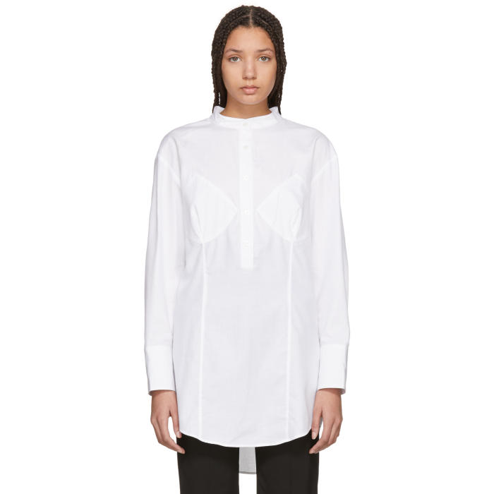 WENDELBORN Wendelborn White Darted Bra Shirt