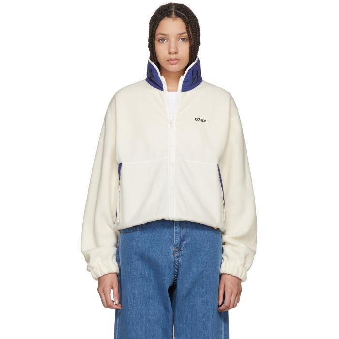 032c White WWB Fleece Jacket thumbnail