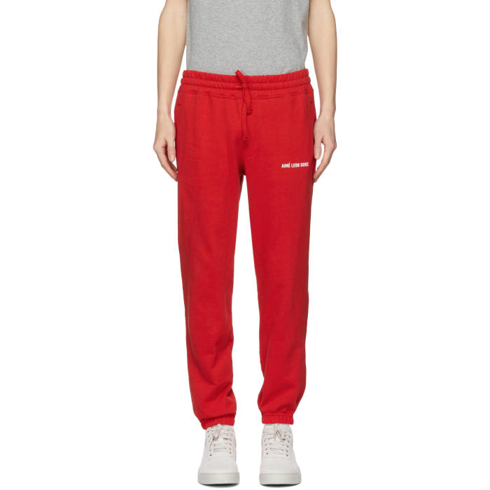 AIME LEON DORE RED LOGO CAMPER LOUNGE PANTS