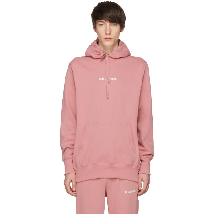 AIMÉ LEON DORE Aime Leon Dore Pink Kanga Logo Hoodie in Dusty Pink