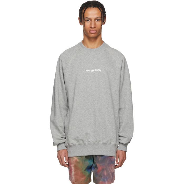 AIMÉ LEON DORE Aime Leon Dore Grey Logo Sweatshirt