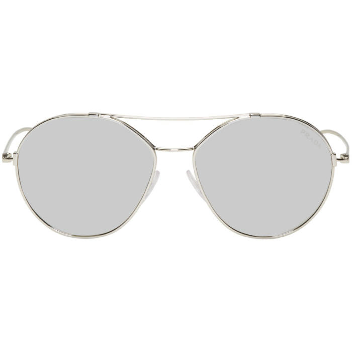 1da33084b82 Prada Silver Double Bridge Sunglasses