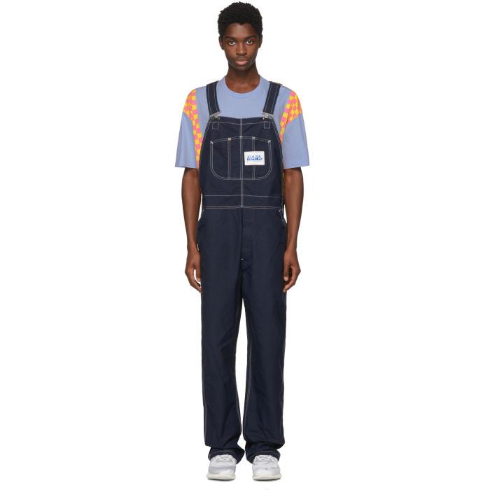NAPA X MARTINE ROSE Blue Cotton Overalls