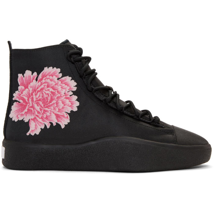 faeae4b651dd2 Y-3 X James Harden Floral-Jacquard Trainers In Black