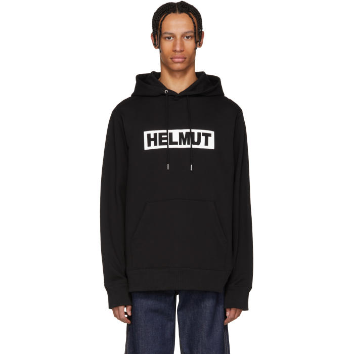 Logo-Print Hooded Sweatshirt, 001.Black