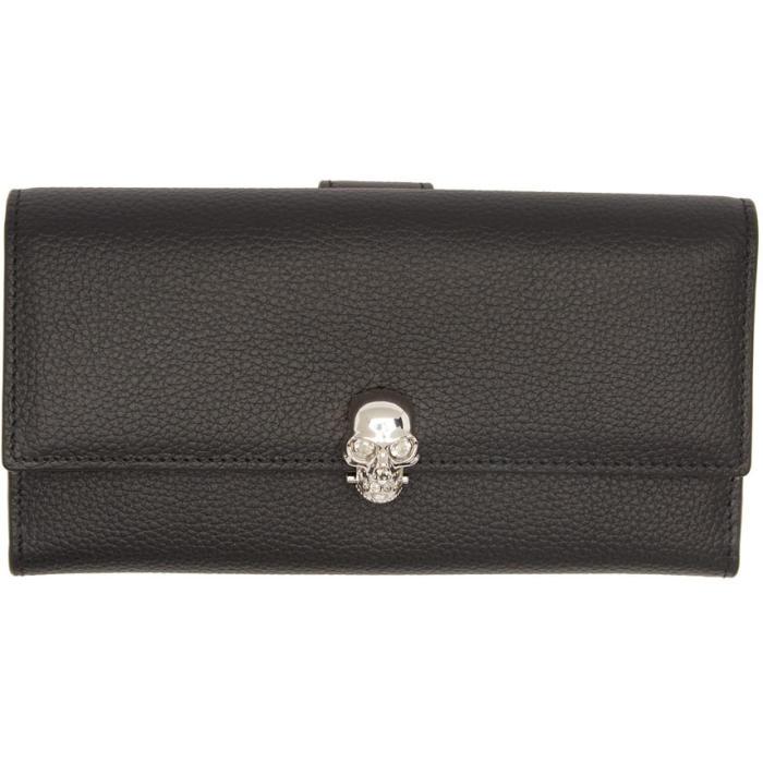 Alexander McQueen Black and Silver Skull Wallet thumbnail