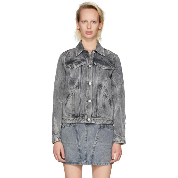 Givenchy Studded Denim Jacket - Grey, 020 Grey