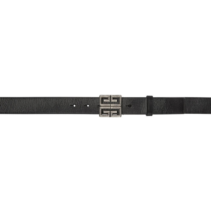 Black 4G Engraved Belt