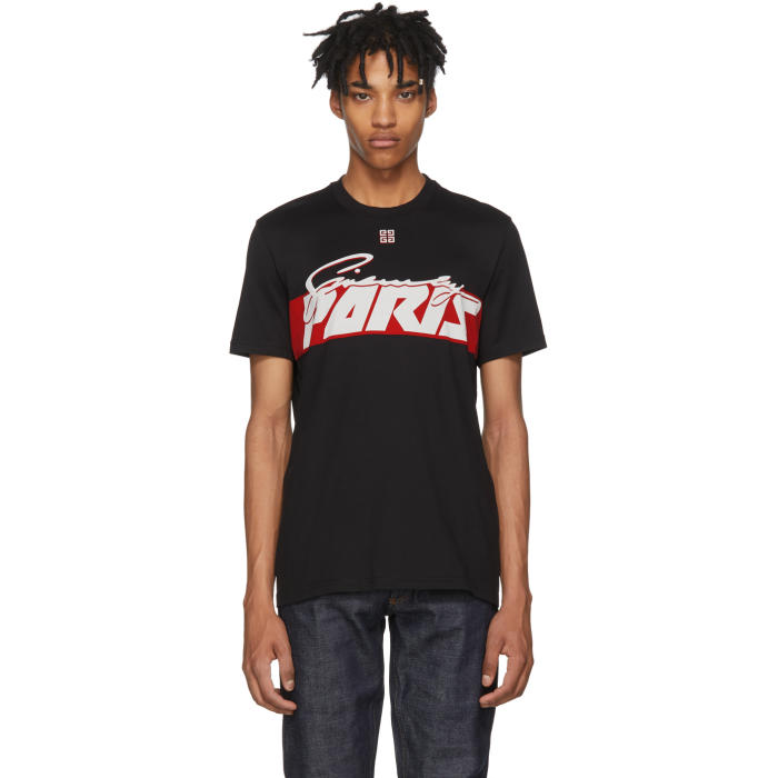 GIVENCHY Black Logo-Print Cotton T-Shirt, 001 Black