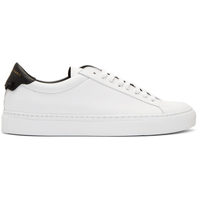 Givenchy Men's Urban Street Leather Low-Top Sneakers In 116 Wht/Blk
