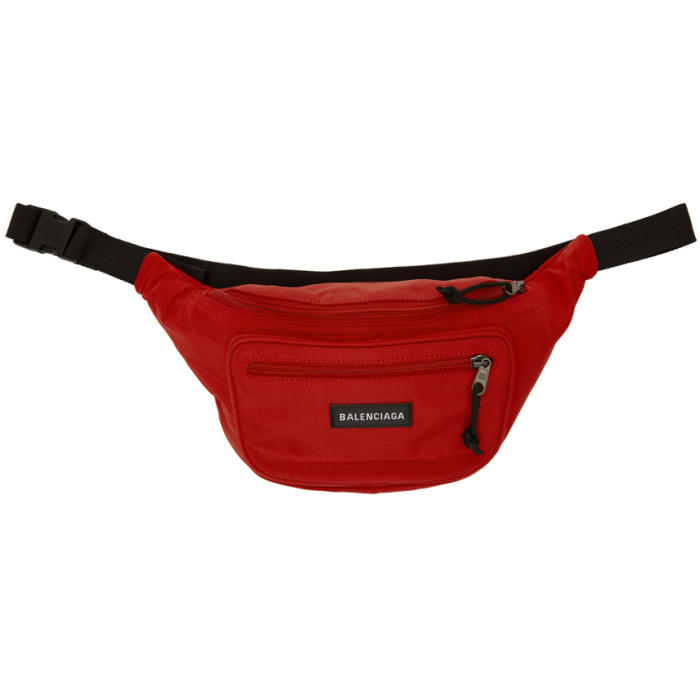 Red Nylon Explorer Belt Pouch in 6404 Rouge