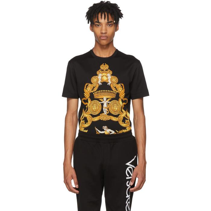 Men'S Signature Greek-Pattern Graphic T-Shirt, A708 Blk/Pr