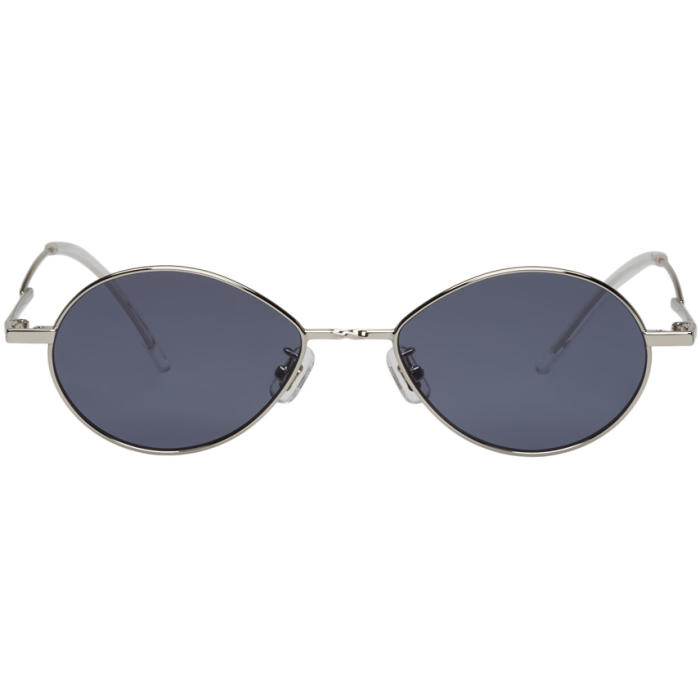 c0f9835d1bf GENTLE MONSTER Silver And Grey Cobalt Sunglasses