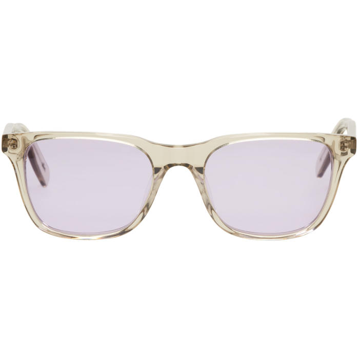 ALL IN SSENSE EXCLUSIVE GREY AND PURPLE YORK SUNGLASSES