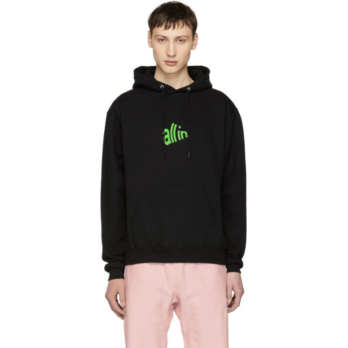 ALL IN All In Ssense Exclusive Black And Green Signal Hoodie