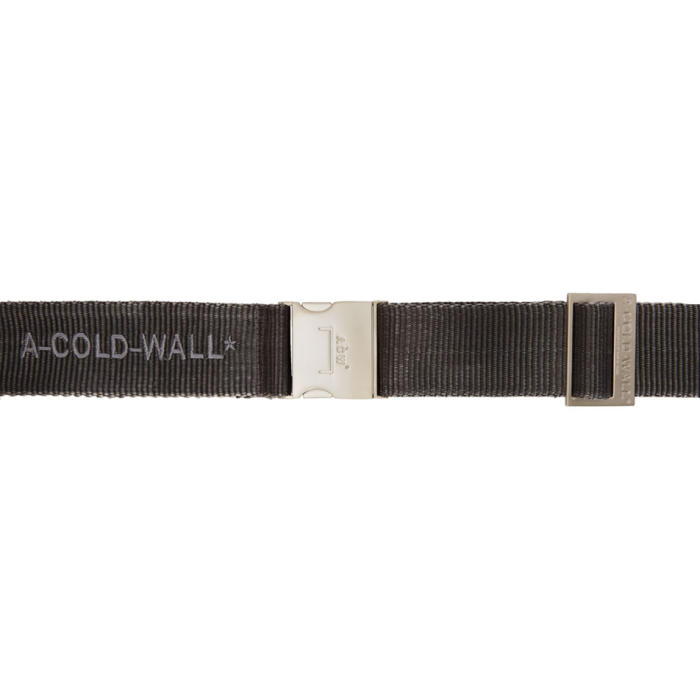 A-COLD-WALL* GREY AND BLACK WEBBING BELT
