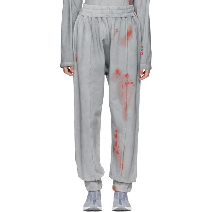 A-COLD-WALL* GREY AND RED T2 SWEATPANTS