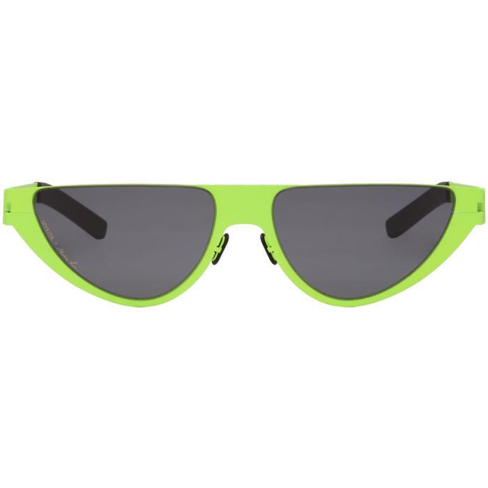 1c62df5f581 MARTINE ROSE Green Mykita Edition Kitt Sunglasses