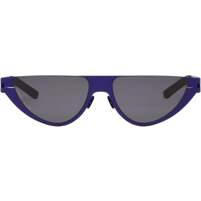 MARTINE ROSE Kitt Sunglasses in 373 Blue