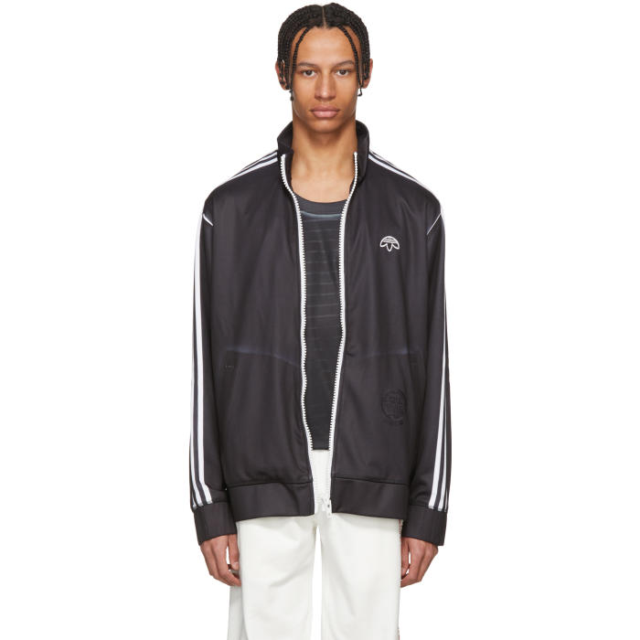 ADIDAS ORIGINALS BY ALEXANDER WANG Adidas By Alexander Wang Track Jacket In Black,Stripes,White