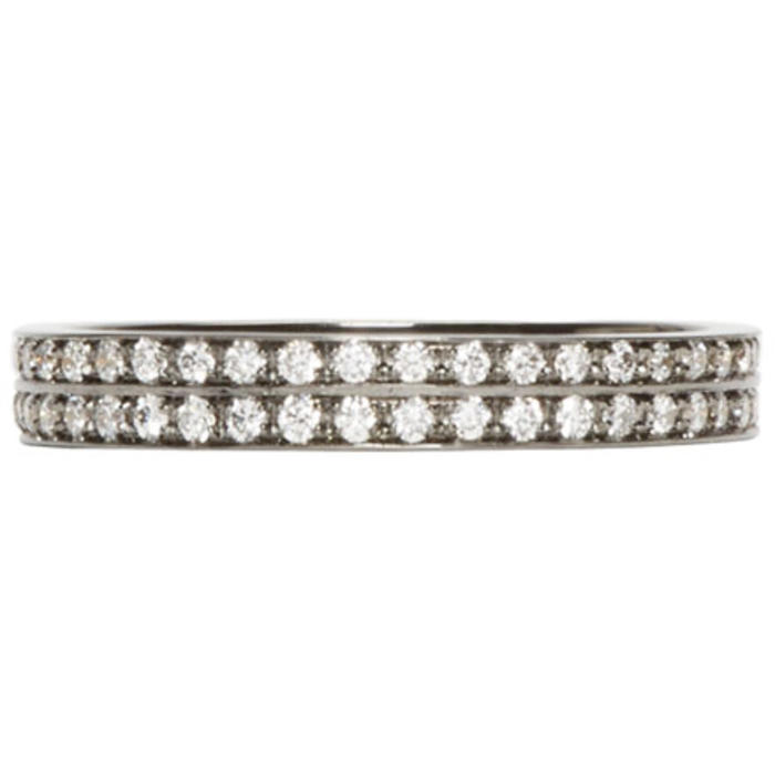 Repossi Black Gold Pavé Diamond Berbere Ring