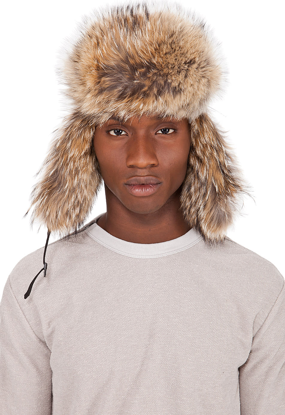 Canada Goose Black Coyote Fur Aviator Hat