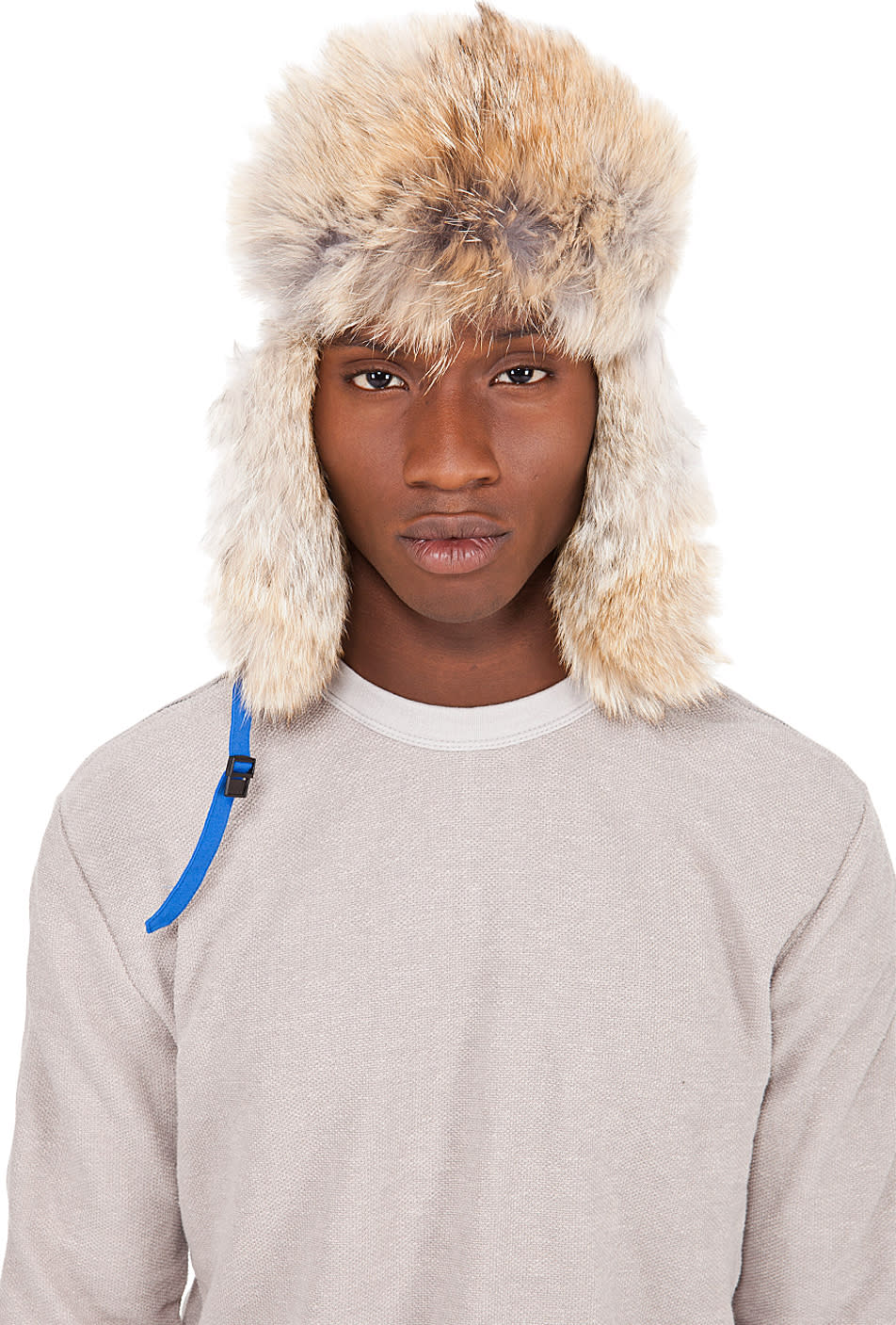 Canada Goose Blue Coyote Fur Aviator Hat