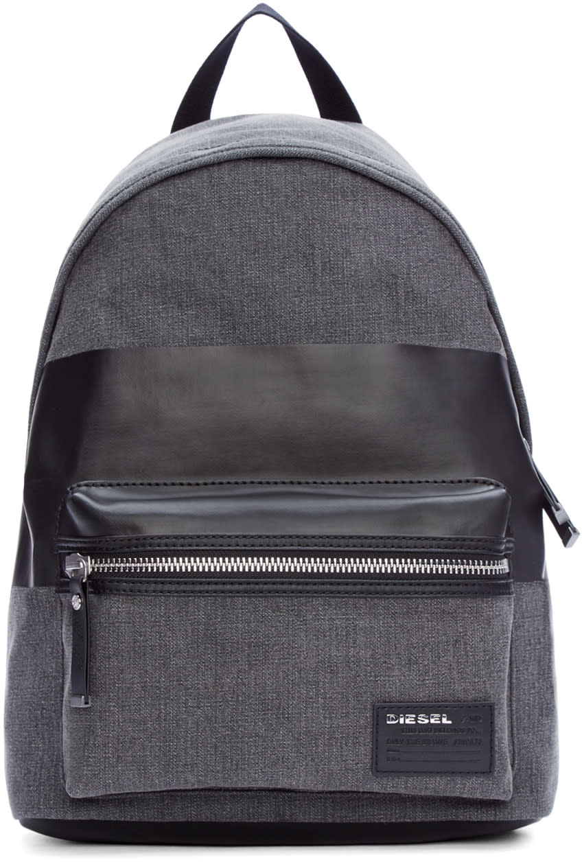 Diesel Grey Denim Blockin Backpack