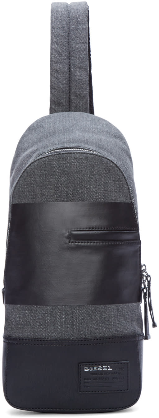 Diesel Black and Grey The Brave One Backpack
