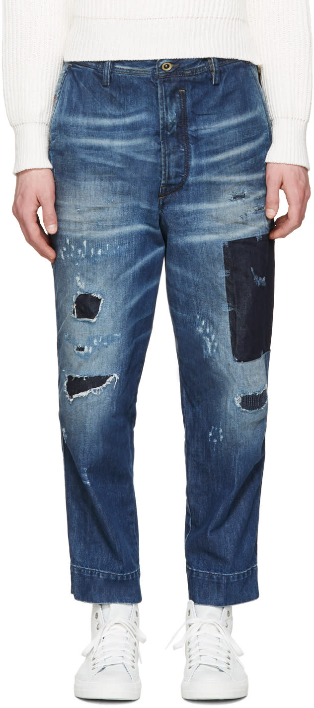 Diesel Blue Carrot-chino Jeans