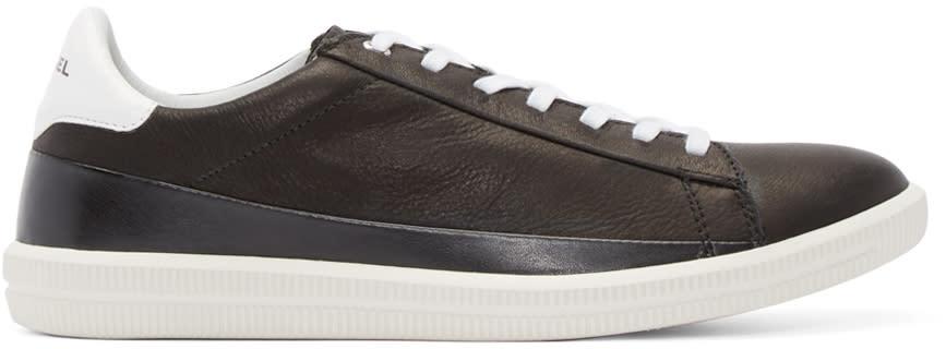 Diesel Black Leather S-naptik Sneakers