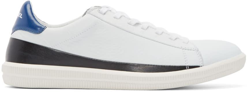 Diesel White Leather S-naptik Sneakers