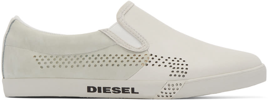 Diesel Off-white Klubb Slip-on Sneakers