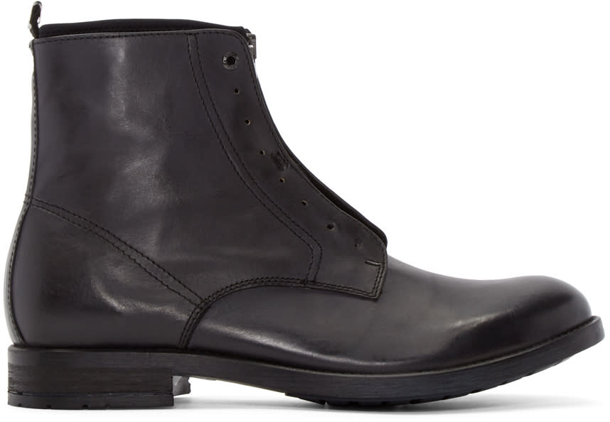 Diesel Black Leather D-dokey Neo Boots