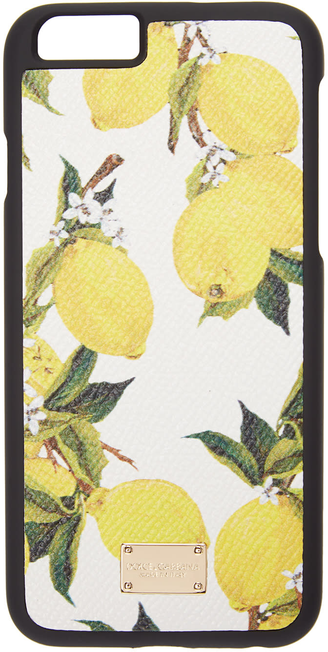 Dolce and Gabbana White Lemon Print Iphone 6 Case