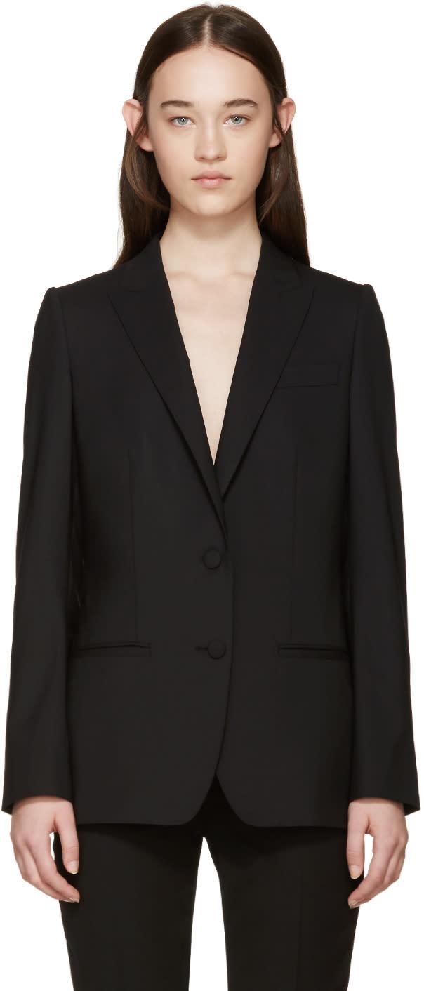 Dolce and Gabbana Black Wool Tailored Blazer