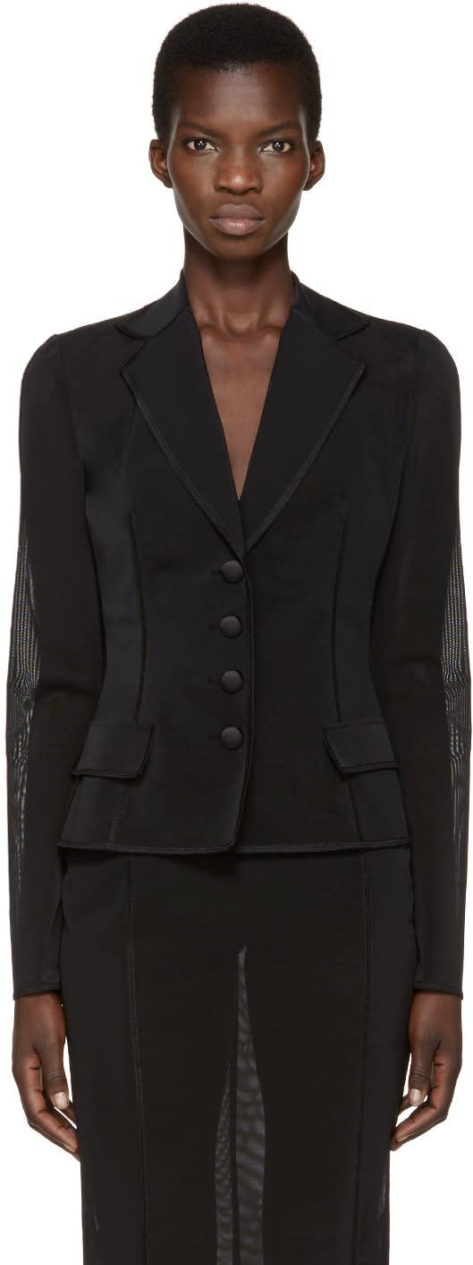 Dolce and Gabbana Black Organza Blazer