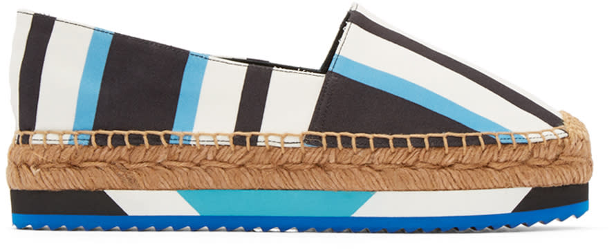 Dolce and Gabbana Tricolor Striped Espadrilles