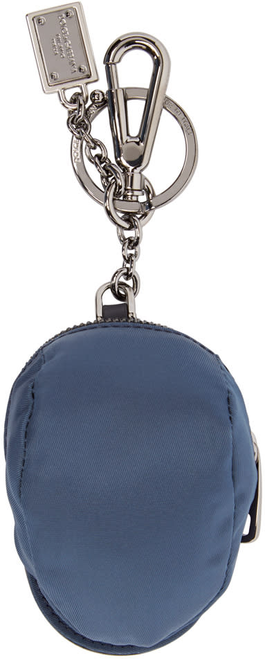 Dolce and Gabbana Navy Hat Pouch Keychain