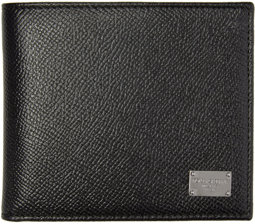 Dolce and Gabbana Black Leather Dauphine Wallet