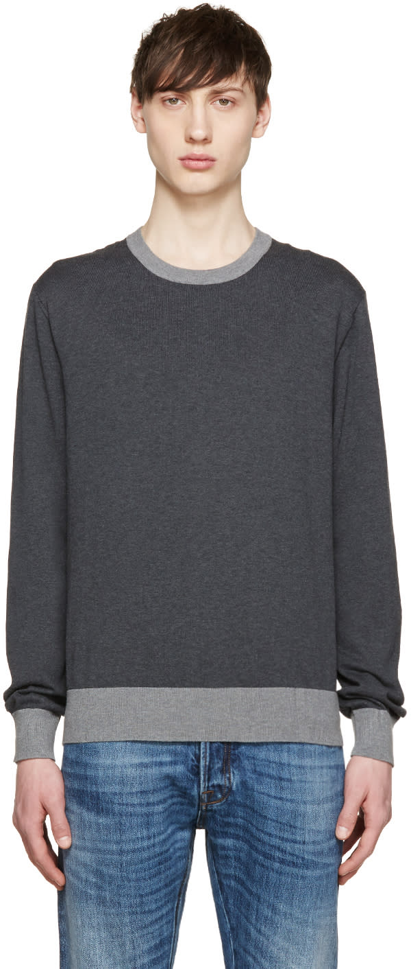 Dolce and Gabbana Grey Two-tone Pullover
