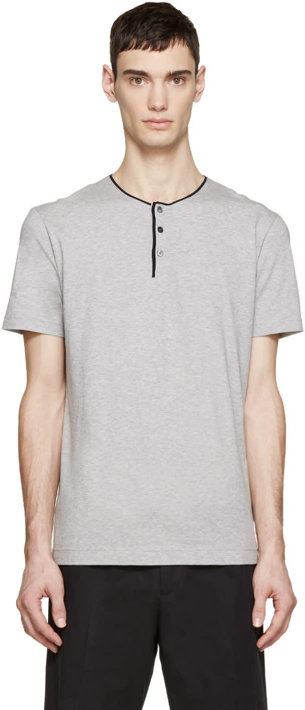 Dolce and Gabbana Grey Henley T-shirt