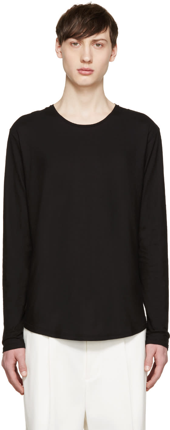 Dolce and Gabbana Black Long Sleeve T-shirt