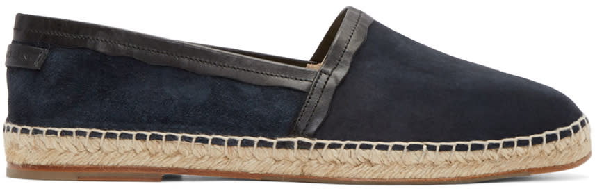 Dolce and Gabbana Navy Suede Espadrilles