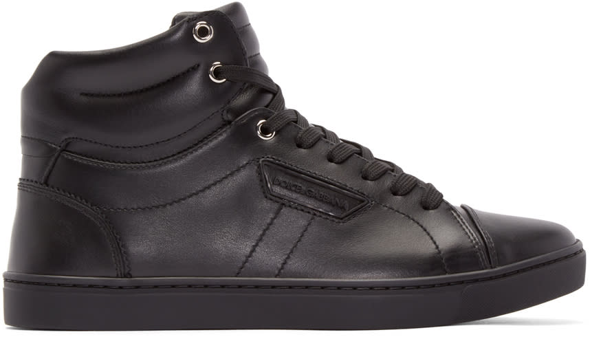 Dolce and Gabbana Black London High-top Sneakers