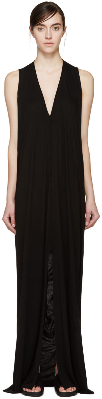 Rick Owens Lilies Black Jersey Sleeveless Dress