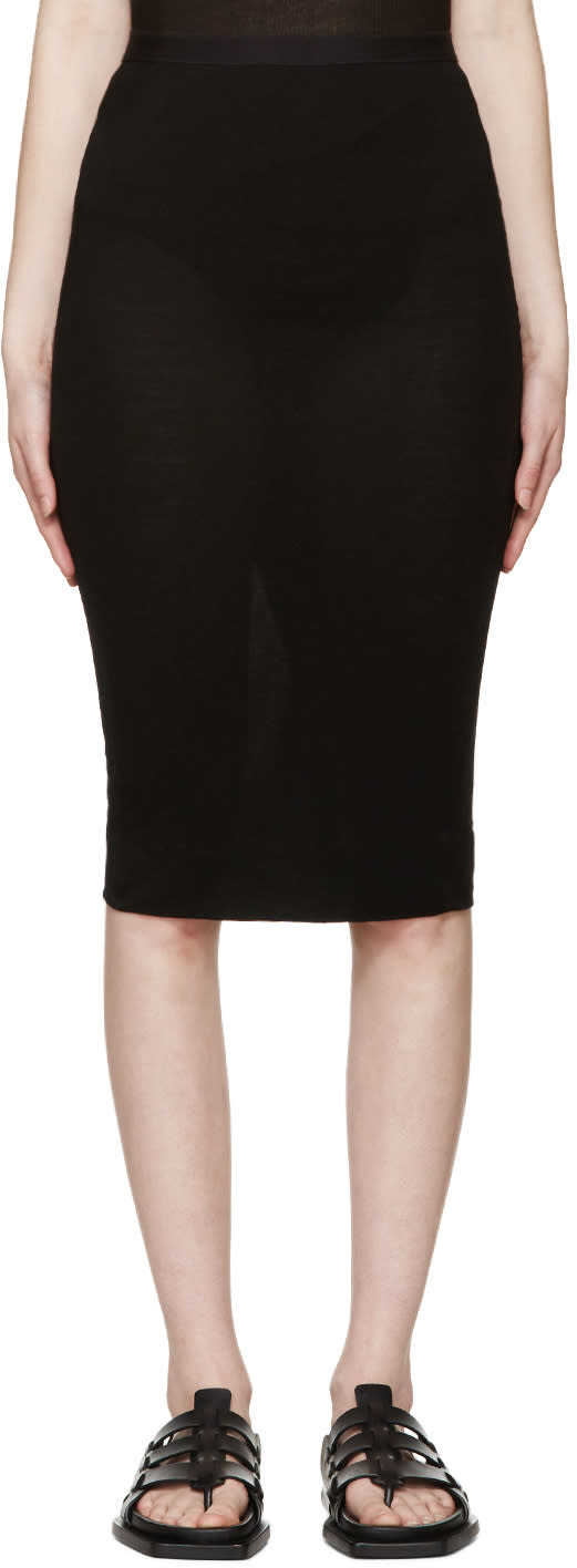 Rick Owens Lilies Black Jersey Skirt