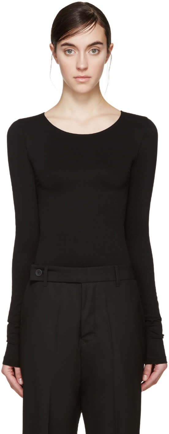 Rick Owens Lilies Black Long Sleeve Bodysuit