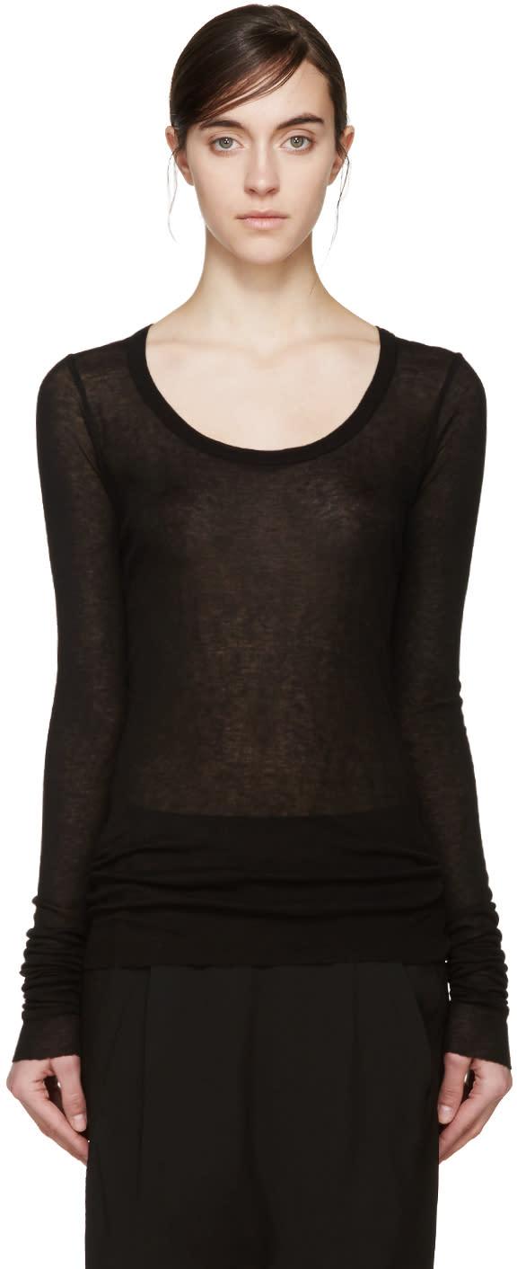 Rick Owens Lilies Black Overlong Sleeve T-shirt