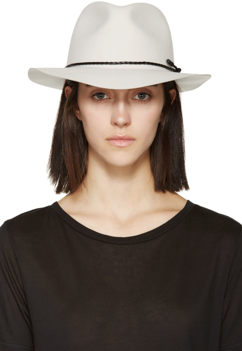 Rag and Bone Beige Felted Wool Abbott Fedora